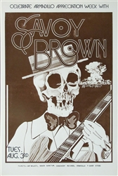 Savoy Brown Armadillo World Headquarters Original Concert Poster