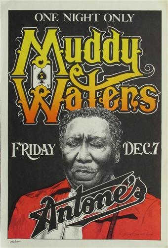 muddy waters original concert poster vintage rock concert poster antones