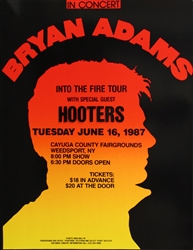Bryan Adams Into The Fire Tour Original Concert Poster