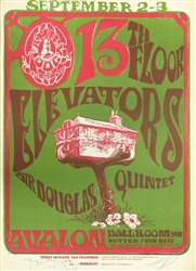 13th Floor Elevators And Sir Douglas Quintet Original Concert Poster