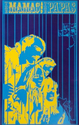 Saladin The Mamas and the Papas Original Rock Poster