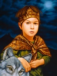 Isabel Samaras Filius in Fabula The Boy in the Tale Original Painting