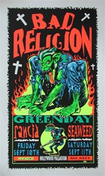 Taz Bad Religion Original Rock Concert Poster
