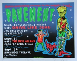 Taz Pavement Original Rock Concert Poster