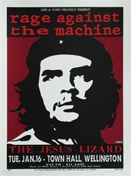Taz Rage Against the Machine Suite of 4 Original Rock Concert Posters