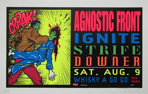 TAZ BOARD IN THE SOUTH BAY ORIGINAL SILKSCREEN CONCERT POSTER SIGNED NUMBERED