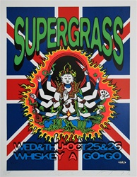 Taz Supergrass Original Rock Concert Poster