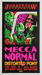 Taz Mecca Normal Original Rock Concert Poster