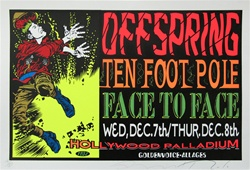 Taz Offspring and Ten Foot Pole Original Rock Concert Poster