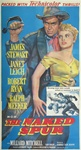 The Naked Spur Original US Three Sheet
