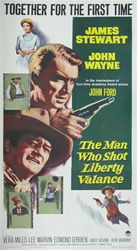 The Man Who Shot Liberty Valance Original US Three Sheet