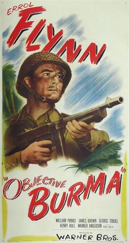 Objective Burma Errol Flynn movie poster print