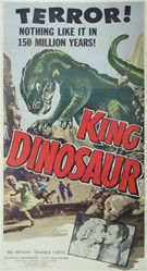 KIng Dinosaur Original US Three Sheet