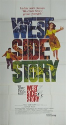 West Side Story Original US Three Sheet