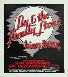 Sly and the Family Stone Original Concert Poster