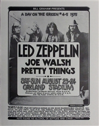 Led Zeppelin And Joe Walsh And Pretty Things Original Concert Poster