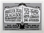 Grateful Dead And The Beach Boys And Ten Years After Original Concert Poster