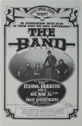 The Band And The Flying Burrito Brothers Concert Poster