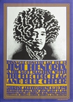 Jimi Hendrix/Soft Machine/ Electric Flag Poster Original Concert Poster