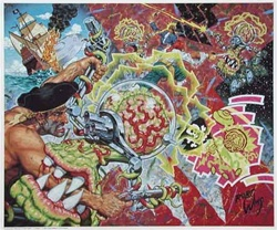 Robert Williams Flying Saucer Attack on a Pirate Galleon Poster