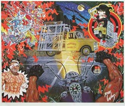 Robert Williams Hittin a Glass Truck at Midnight Limited Edition Lithograph