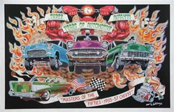 Robert Williams Masters of the Fifties Chevys Poster