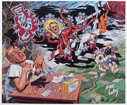 Robert Williams Patrick has a Glue Dream Limited Edition Lithograph