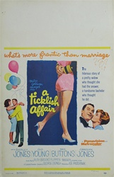 A Ticklish Affair US Window Card
