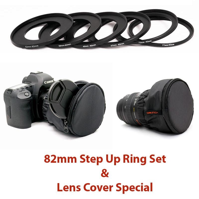 G-SUR/82KITLCS ,82mm Filter Step Up Ring Set Lens Cover Special