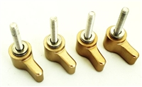 Mobar Locking Lever Knobs for Bracket set of 4 with washers