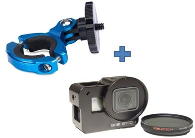 LumeCube LC-BM11-Cage: ADJUSTABLE BAR MOUNT FOR BIKES, GIMBALS, BARS, DRONES, GOPRO With GENUS GOPRO CAGE &FILTER