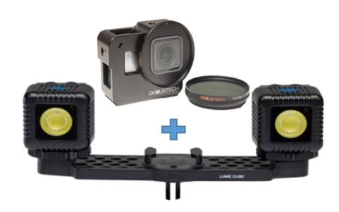 LumeCube LC-GPAC22-CAGE:  Lighting Kit & GoPro Cage, Filter Bundle