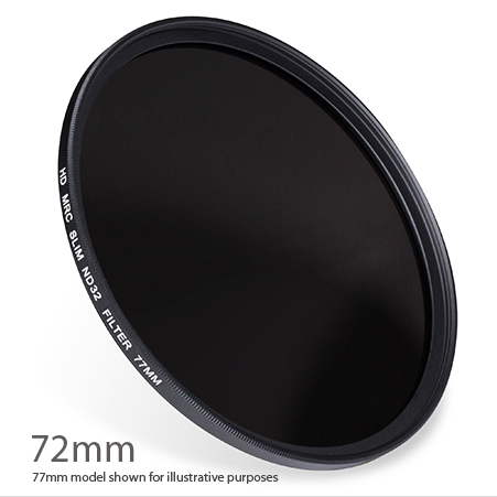 ND32-72 : ND 1.5 ( ND32 ) 5 stop Neutral Density Filter 72mm
