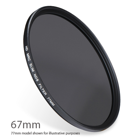 ND8-67 : ND 0.9 ( ND8 ) 3 stop Neutral Density Filter 67mm