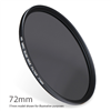 ND8-72 : ND 0.9 ( ND8 ) 3 stop Neutral Density Filter 72mm