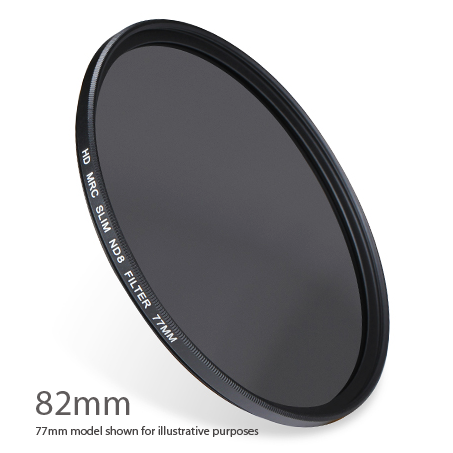 ND8-82 : ND 0.9 ( ND8 ) 3 stop Neutral Density Filter 82mm