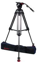 OZ-12CF2  : OZEN 100CF2 100mm Carbon Fiber Tripod & Agile 12 Fluid Head System (E-Z-Load)