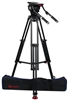 OZ-18AL1HD : OZEN 100AL1HD 100mm Aluminum Tripod & Agile 18 Fluid Head System (E-Z-Load)