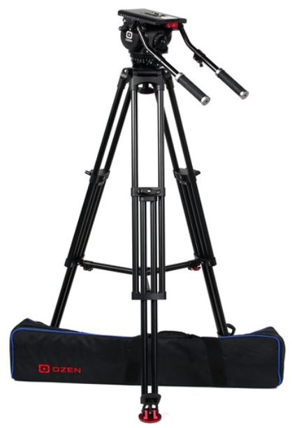 OZ-20AL1HD:OZEN 100AL1HD 100mm Aluminum Tripod & Agile 20 Fluid Head System (E-Z-Load)