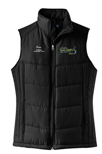 Florida Everblades FSC Ladies Puffy Vest for Qualifying Competition Team