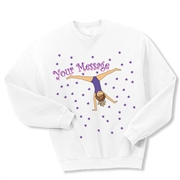 Gymnastics Cartwheel Crewneck Fleece