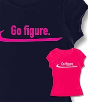 Ice Skate Go Figure Baby Doll Tee