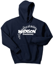 Madison Navy Hoodie Design C