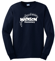 Madison Navy LS Tee Design C