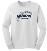 Madison White LS Tee Design C