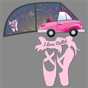 Window Decal - Ballet Shoes