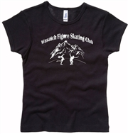 Wasatch Girls/Ladies Jesey Tee Black