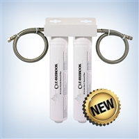 Clearbrook Dual Quick connect cartridge system with 5K Fluoride + Gen II filters and Direct connect hoses.
