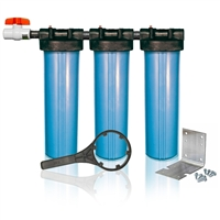 Clearbrook Whole House Filter - Triplex 3 Stage Water Filter System