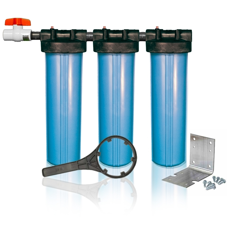 Clearbrook Whole House Filter Triplex 3 Stage Water System